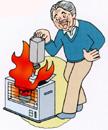 火災でなくなるおもな出火原因 ストーブ