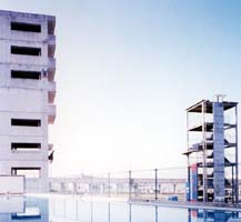 枚方東消防署に訓練塔とプールが完成