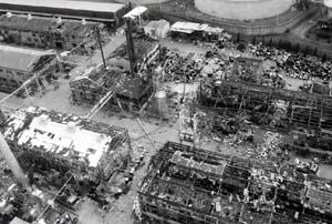 化学工業爆発火災